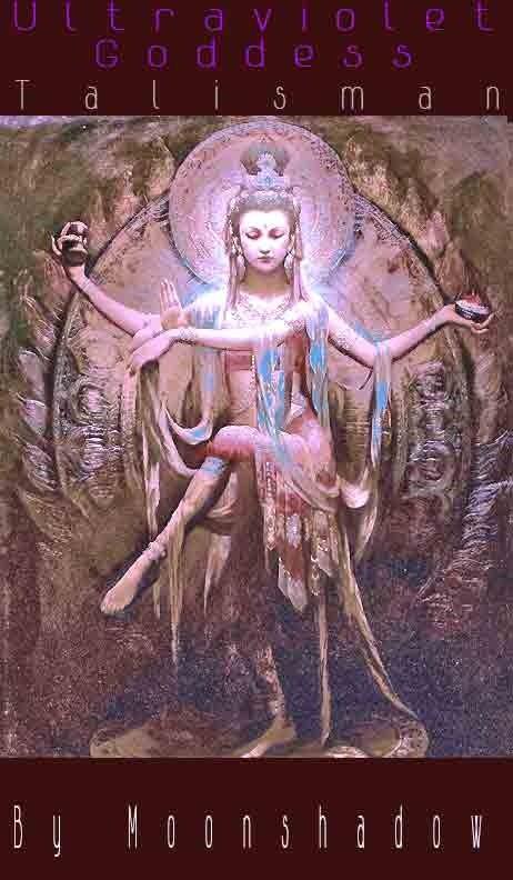 Ultraviolet Goddess Talisman