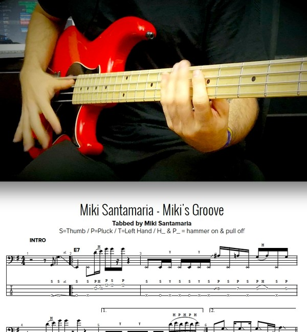 Miki Santamaria - Miki's Groove - TABS & Backing Tracks