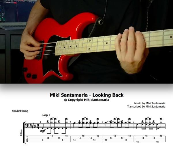 Miki Santamaria - Looking Back (Tabs & Backing Track)