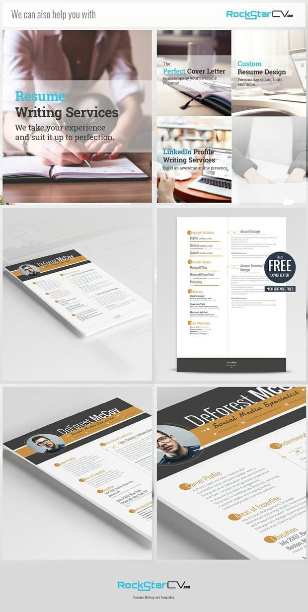 creative resume modern resume template cv cover