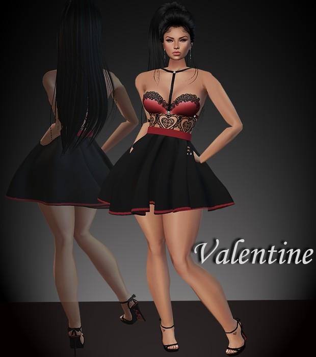 Valentine Dress & Shoes