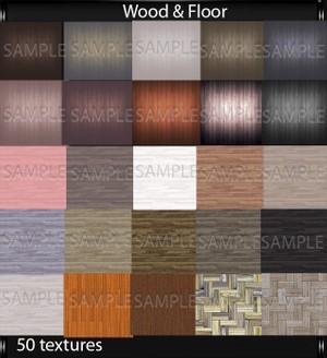 Wood & Floor (50 textures PNG)