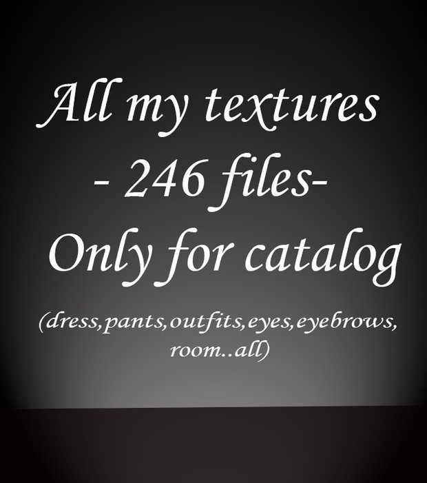 246 files- ONLY CATALOG - (NO RIGHT OF RESALE)