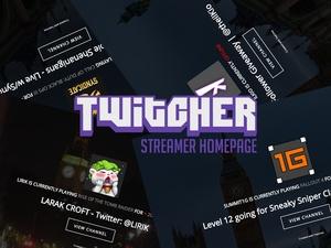 Twitcher - Twitch.TV Streamer Homepage