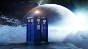 Tardis Landing Green Screen