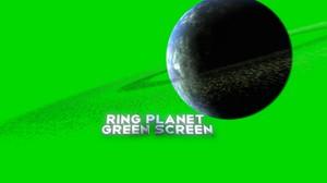 Ring Planet Green Screen