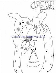 #9 Pumpkin Patch All line/stitcherys drawing ePattern