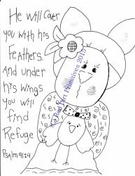 #7 Psalm Rabbit All Line/Stitcherys Drawing ePattern