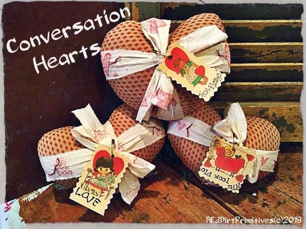 Vintage Conversation Hearts PDF Download ePattern