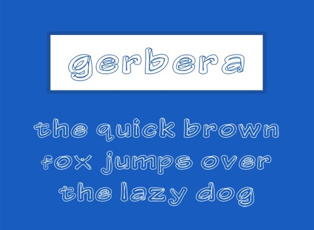 Gerbera Font