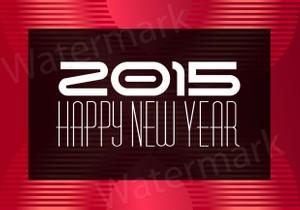 New Year 2015 (JPG & EPS file)