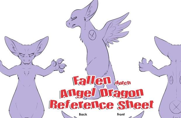 Fallen Angel Dragon Reference Sheet