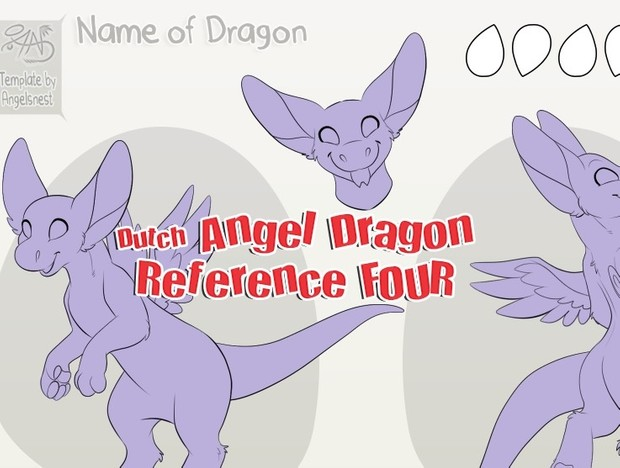 Angel Dragon Reference Sheet FOUR