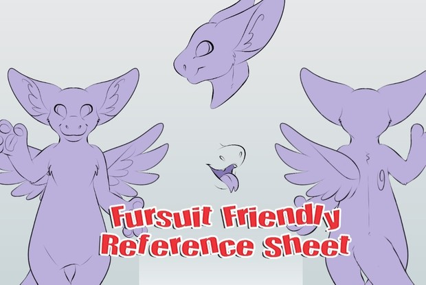 fursuit friendly angel dragon ref sheet the angels nest
