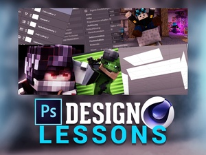 Design Lessons (1 Stunde/Hour) in Photoshop & Cinema4D