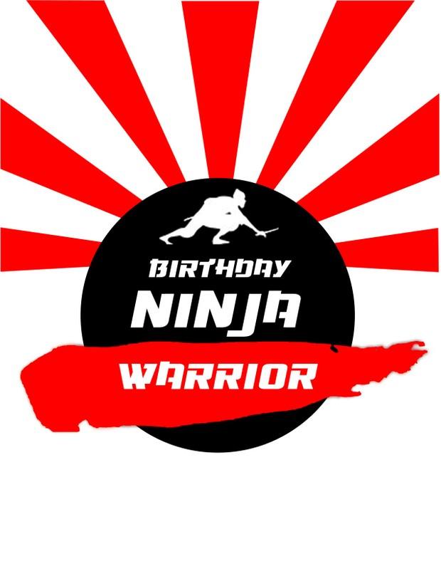 Birthday Ninja Warrior Invitation Files