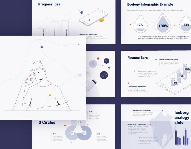 StartUp Info-graphic Keynote Template