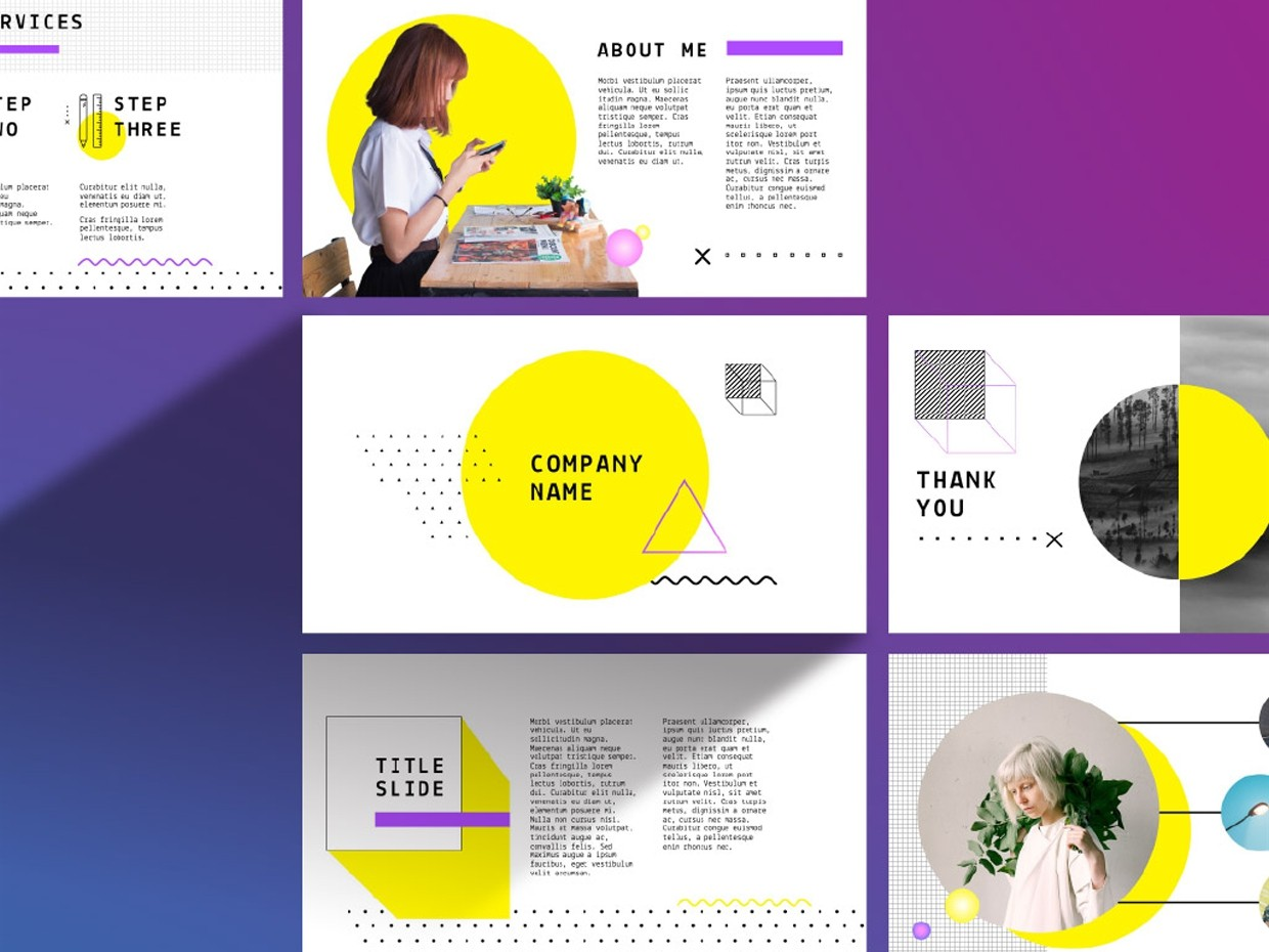 Yellow PPT Template