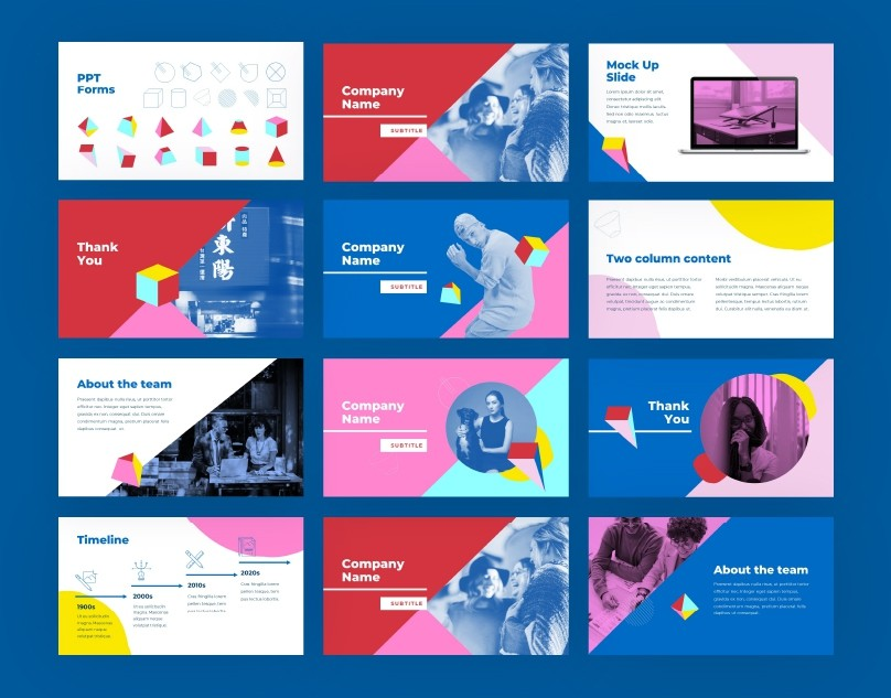 Bold Colorful PPT Template