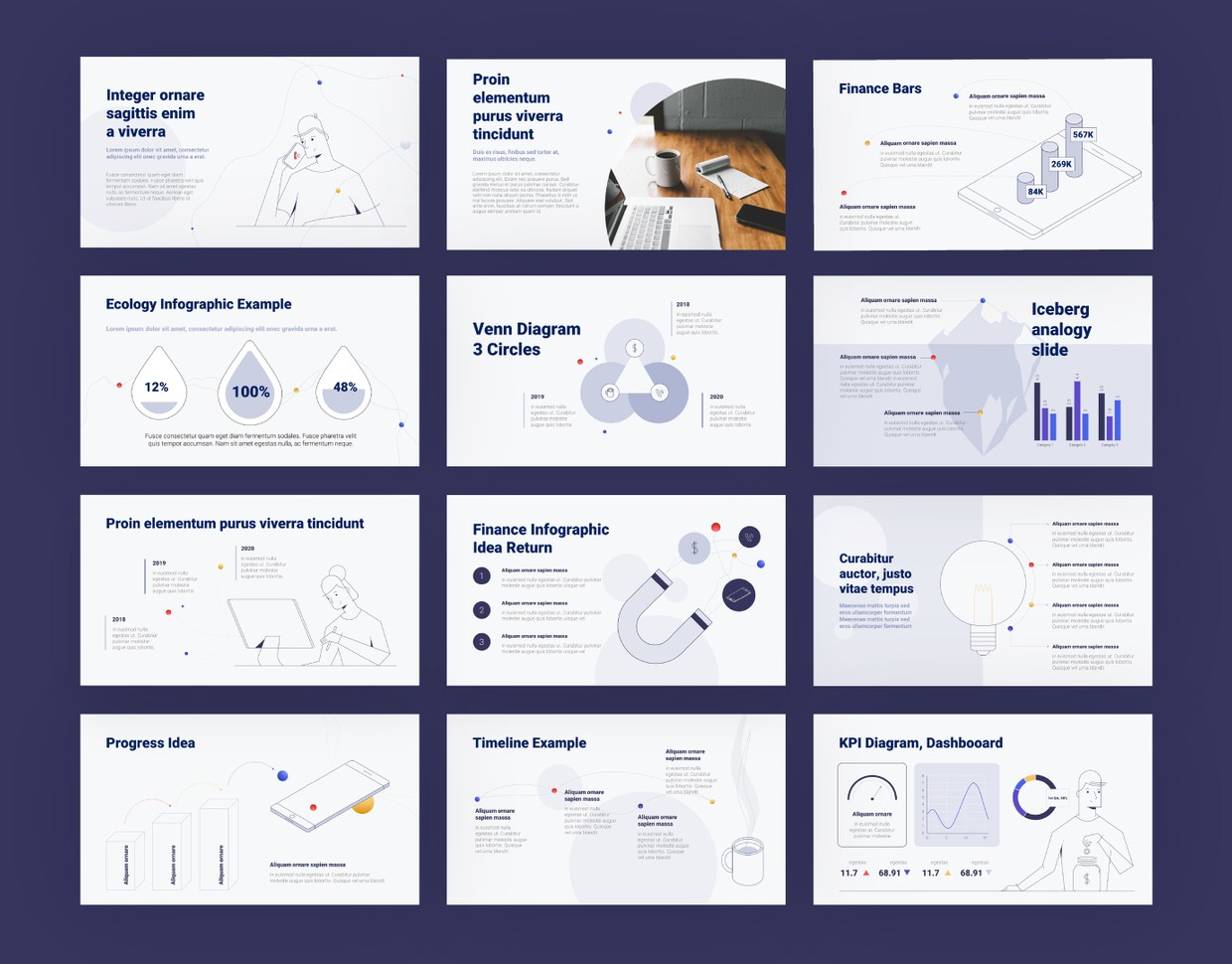 StartUp Info-graphic PPT Template