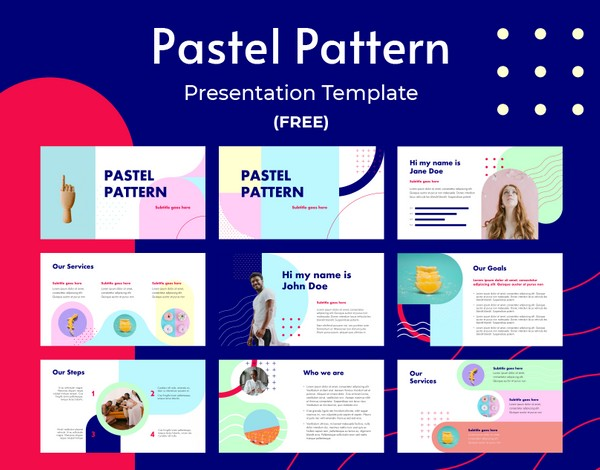 Pastel Pattern - PPT Template