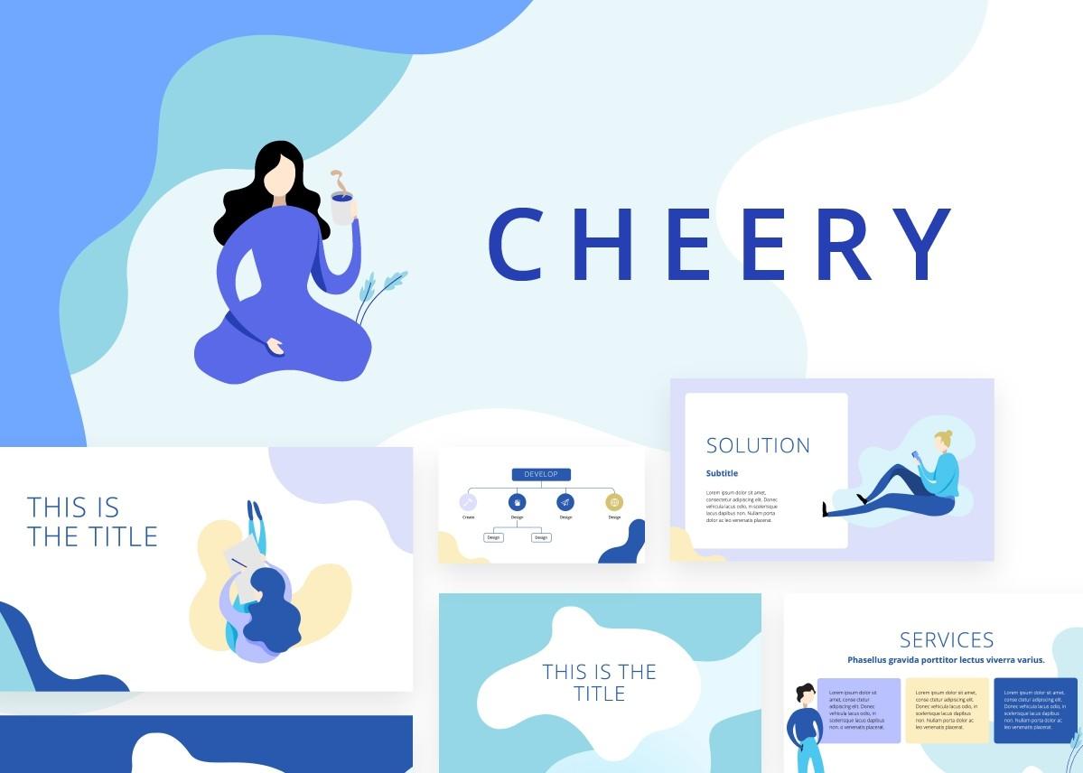 Cheery PPT Blue