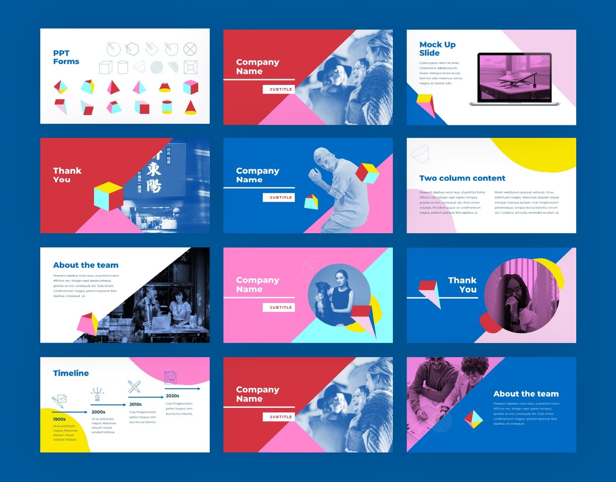 Bold Colorful Keynote Template
