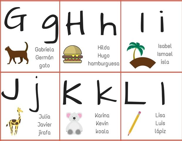 abecedario para niños de primero de primaria