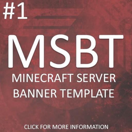 Minecraft Server Banner Template #1 - Platopias