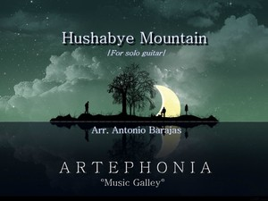 Hushabye Mountain for solo guitar.