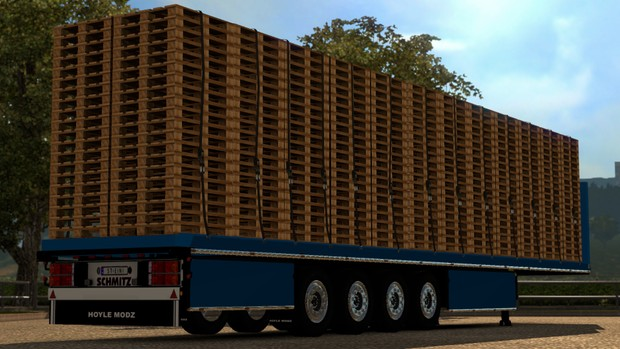 Pallets 4 Axle Flatbed