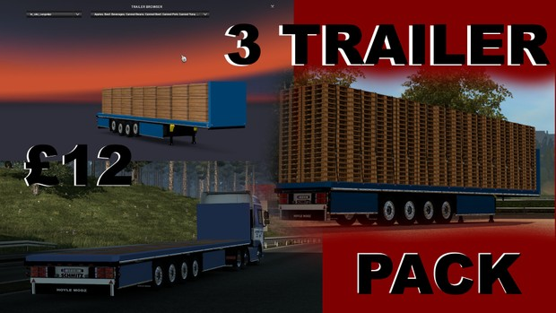 4 Axle Flatbed trailer PACK