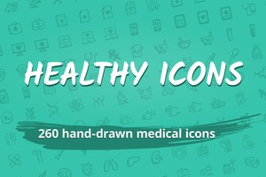 Healthy Icons — 260 medical & health icons