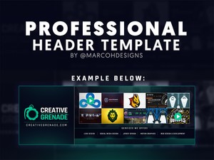 Professional Header Template