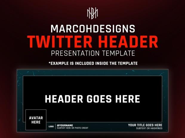 MarcoHDesigns Header Presentation Template
