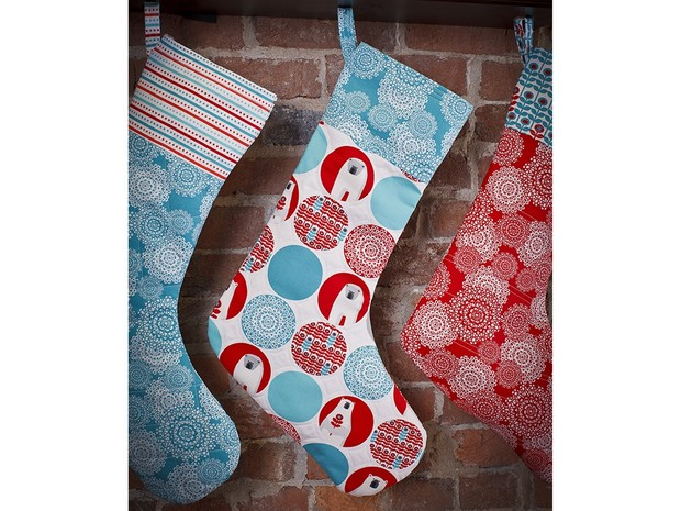 Quilted Stocking Pattern