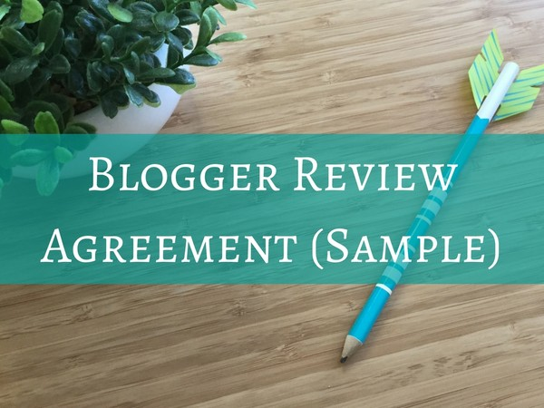 Blogger Review Agreement (Sample)
