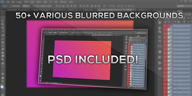 50+ Various Blurred backgrounds