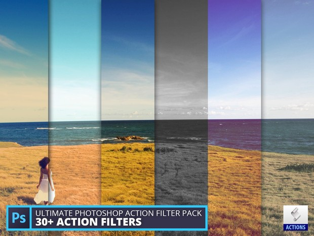 Ultimate Photoshop action filter pack (vol 1)