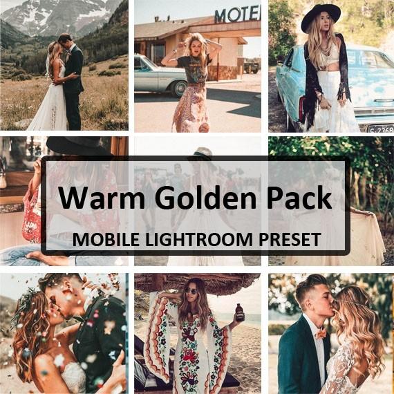 Warm & Golden Mobile Preset Pack