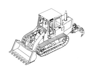 LIEBHERR LR614 Litronic CRAWLER LOADER OPERATION & MAINTENANCE MANUAL (from S/N: 6355)