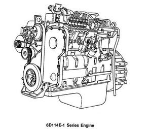 KOMATSU S6D114E-1, SA6D114E-1, SAA6D114E-1 SERIES ENGINE SHOP MANUAL & TROUBLESHOOTING MANUAL