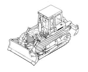 LIEBHERR PR734 Litronic CRAWLER DOZER OPERATION & MAINTENANCE MANUAL (from S/N 8220)