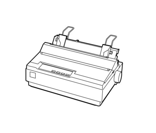 Epson LX-300+ 9-pin Serial Impact Dot Matrix Printer Service Repair Manual