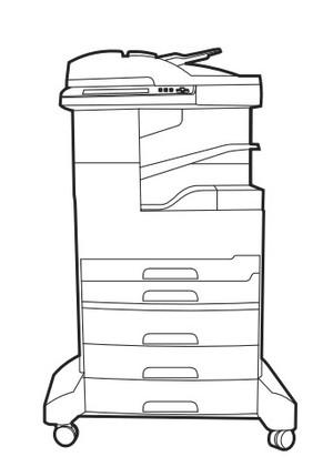 HP LaserJet M5039XS MFP Series printer Service Repair Manual