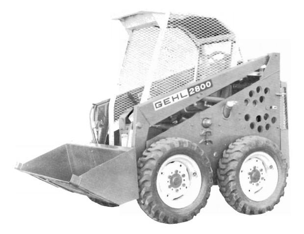 GEHL HL2800 Skid Steer Loader Parts Manual
