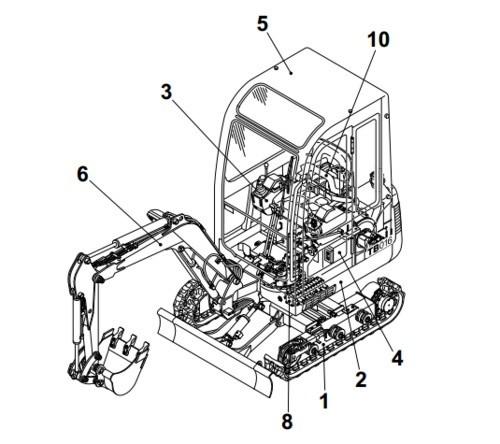 Takeuchi TB125, TB135, TB145 Compact Excavator Operation & Maintenance Manual