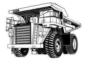 KOMATSU 530M DUMP TRUCK SERVICE REPAIR MANUAL + OPERATION & MAINTENANCE MANUAL