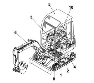 Takeuchi TB68 Compact Excavator Parts Manual