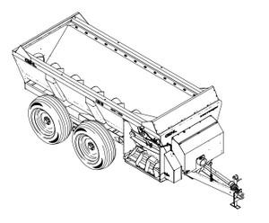 GEHL 1309, 1312, 1315, 1322 Scavenger Manure Spreaders Parts Manual